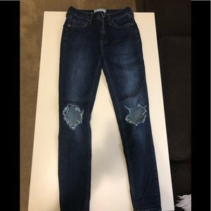"""Free People """"Busted Knee"""" Skinny Jean Size 26"""